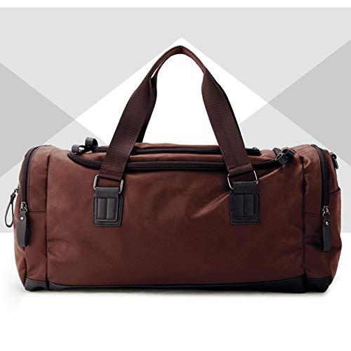 Grote reistassen, weekendtassen voor heren, Twee zijzakken voor uitbreidingen voor Unisex Weekend Daypack Large Holdall Travel Bag,2