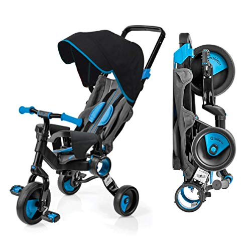 Galileo with Deluxe Canopy - 3 in 1 Stroller Tricycle - No Assembly Required - Blue
