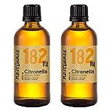 Naissance Aceite Esencial de Citronela n.º 182-200ml (2x100ml) - 100% puro, vegano y no OGM