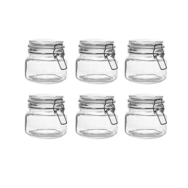 Set of 6 500ml Clip Top Chutney Jars 4