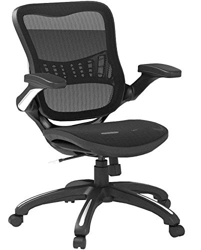 Product Image 2: Office Star Mesh Back & Seat, 2-to-1 Synchro & Lumbar Support Managers Chair, Black