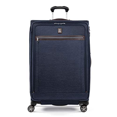 Travelpro Platinum EliteSoftside Expandable Spinner Wheel Luggage True Navy CheckedLarge 29Inch