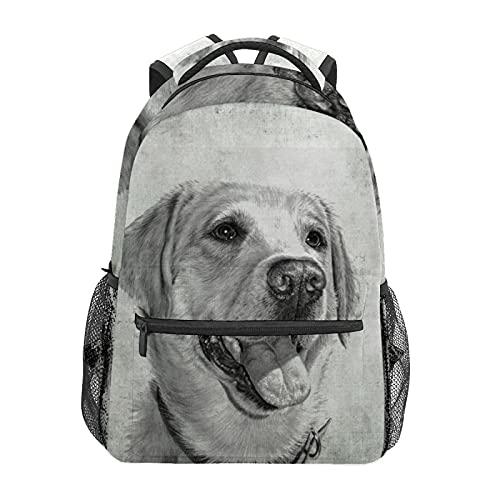 Sketch - Mochila de viaje para cachorro, estilo retro, mochila para escuela, colegio, viajes, senderismo, moda portátil, para mujeres, hombres, adolescentes, informales, escolares, lona