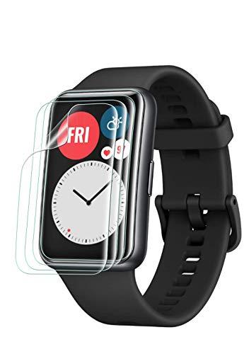 Maxku HUAWEI Watch FIT用 フィルム高透過率 超薄 硬度4H 耐衝撃 手触り良い HD画面 PET素材 HUAWEI Watch FIT用 液晶保護フィルム【4枚入り】