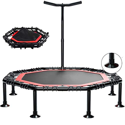 LuoMei Sport Jumping Fitness Trampoline Indoor and Outdoor Kids Trampoline Kids Small Trampoline with Handle Indoor Adult Exercise Trampoline50 inch Octagon