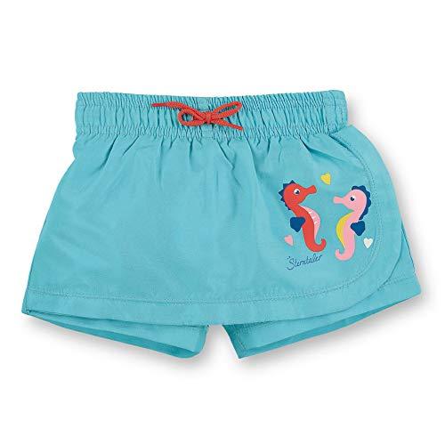 Sterntaler Kinder Mädchen Schwimm-Hosenrock, UV-Schutz 50+, Alter: 4-6 Jahren, Größe: 110/116, Meeresblau