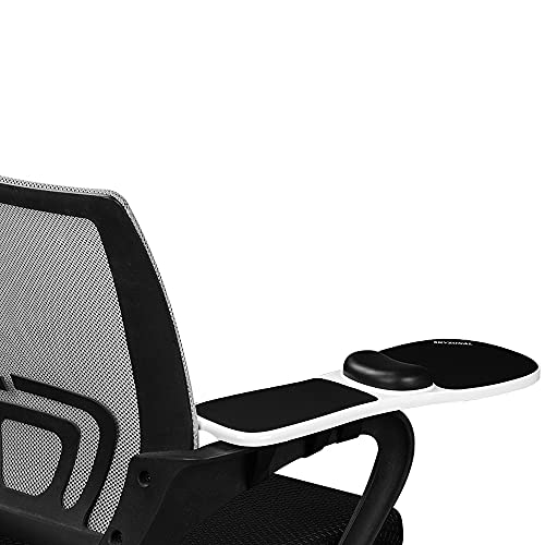 SKYZONAL Ergonomic Adjustable Armrest Wrist Rest-Only Adjustable for Chair (Extra Long Zip Ties Included)