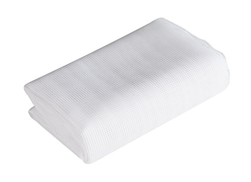 Windhager Insektenschutz Fliegengitter Fenstergitter Insektenschutzgewebe, individuell kürzbares Polyestergewebe, feinmaschig, UV-beständig, Weiß, 150 x 300 cm,  03481