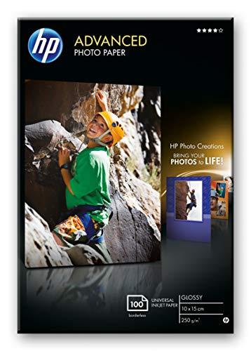 HP Q8692A Advanced Glossy Fotopapier 250g/m² 10x15cm 100 Blatt, weiß
