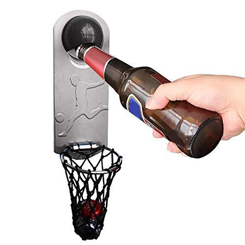 Kbsin212 Sacacorchos multifunción para botellas de cerveza, abridor de botellas de vino, de imán suave, montado en la pared