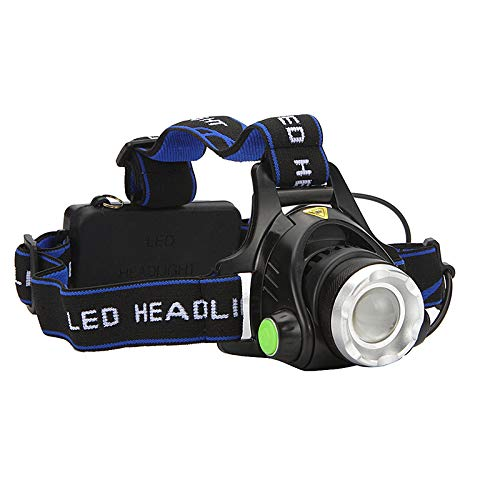MEISI Cob LED-Scheinwerfer Zoombare Scheinwerfer Scheinwerfer-Taschenlampe 3 Lichtmodi 90 Grad Verstellbar Wasserdicht Blendscheinwerfer Perfekt zum Gehen Camping Lesen Wandern