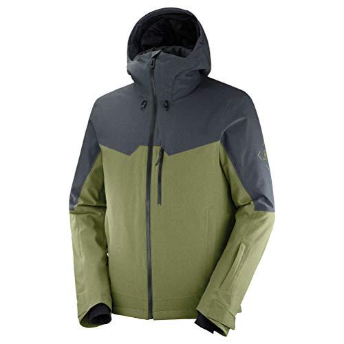 SALOMON Herren Ski-Jacke, UNTRACKED JKT M, Polyester/Elasthan/Polyamid, Grün (Martini Olive), Größe: S, LC1402500