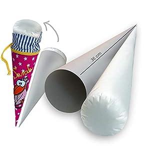 35 cm PREMIUM Bastelset Papprohling Inlettkissen für kleine Schultüte, Geschwistertütenkissen Pappe