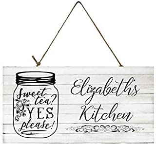 Personalized Sweet Tea Kitchen Printed Handmade Wood Sign