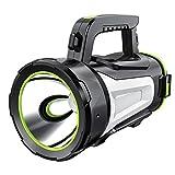 Spotlight Flashlight, Rechargeable Handheld Searchlight Camping Lantern 10W LED, 1000LM, 3 Light Modes