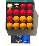 ARAMITH 2' (50.8mm) Premier Pro Tapones adición RED + Amarillos Con Rayas Bola 8 Bolas de...