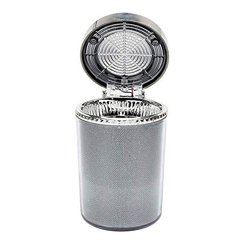 ZATZDLJT Posacenere per Auto Posacenere per Auto in Vetro con posacenere a LED