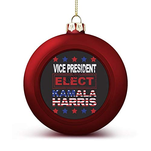 Xmas Round Ornament Ball President Elect United States (1) Vintage Retro Red Christmas Ball for Christmas Tree Christmas Decoration