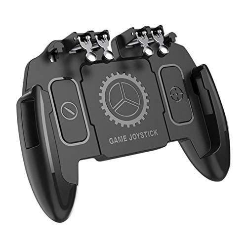 SCYDAO Mobile Gaming Controller Mit Lufter Und Halterung 6 Finger Fur PUBGCall of DutyFotnite Gaming Grip Ausloser Fur 47 65 Ios Android PhoneStandard Model