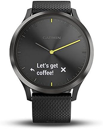 Garmin Vivomove Hr Akıllı Saat, Unisex, Siyah, L