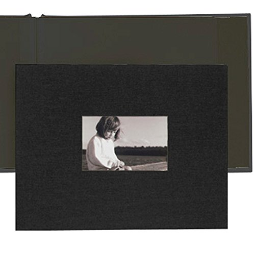 Kolo, Newport Refillable Scrapbook, Black Cover, Black Pages, 11 x 14 inches (100-2001)