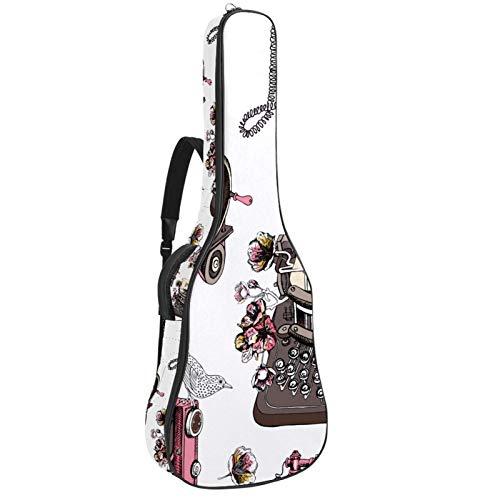 Bolsa de guitarra eléctrica engrosada para guitarra eléctrica con doble colgante, máquina...