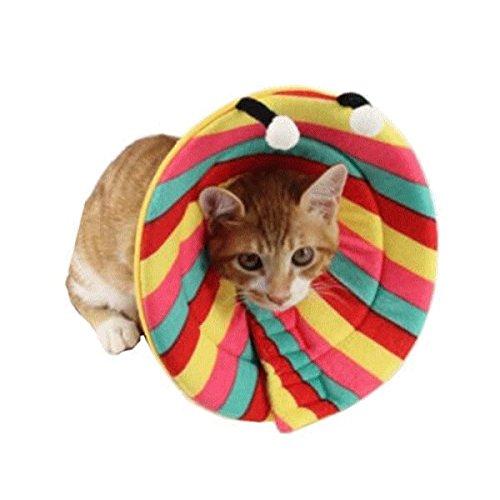 nikka(日華) エリザベスカラー 犬 猫 ソフト 傷舐め防止 引っ掻き防止 傷口保護 手術後のケア 柔らかい 軽量 ワイド アニマル カラフル XLサイズ
