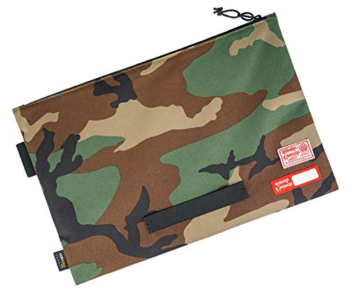 Rough Enough Large File Folders Organizer Document Safe Letter Size for Legal Pads 8.5 x 11 A4 Paper Manila Notebook Zipper Carrying Case Bag Pouch for Filing Office Storage Waterproof Portable Camo