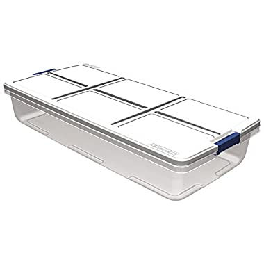 HMS Hefty Under Bed Storage Container, 52 quart, Clear