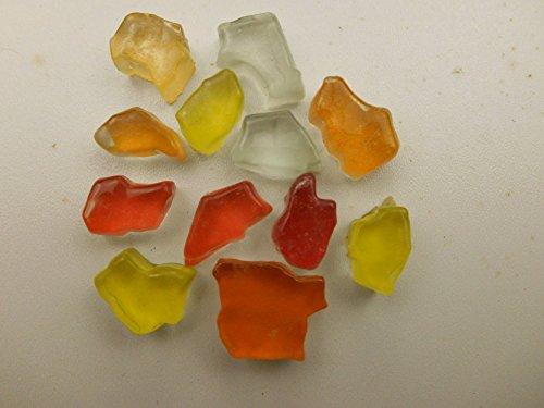 Mosaiksteine Bruchglas Mosaik 1000g Gelb Orange Rot Weiß Mix Crashglas 8mm lose Steine zum Basteln