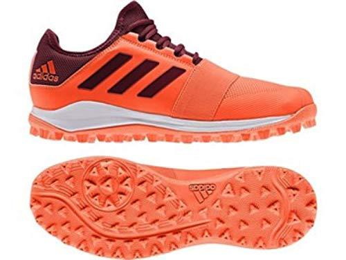 Adi Divox Hockey Training Shoes New 2019 with Free Sports Innovation Grip (UK 8.5) Orange