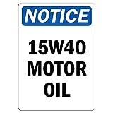 Kilburn Notice – Panneau d'huile Moteur 15W40 rétro créatif décoration Murale...