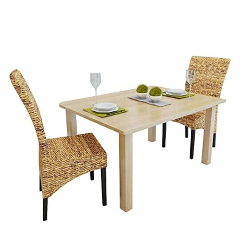 Lot de chaises en rotin VidaXL par 2, 4 ou 6 - Meubles faits à la main, en abaca brun naturel 2 pcs marron