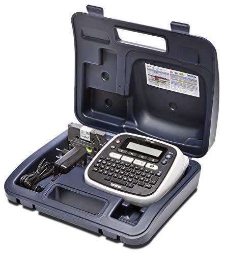 Brother PT-D200BWVP Beschriftungsgerät inklusive Netzadapter und Transportkoffer (für 3,5 bis 12 mm breite TZe-Schriftbänder, bis zu 20 mm/Sek. Druckgeschwindigkeit)