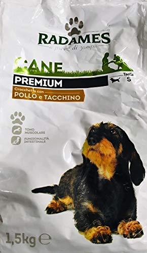 RADAMES Premium 1,5 kg - Crocchette per Cane con Pollo e Tacchino - Taglia S (A Prova di Zampa)