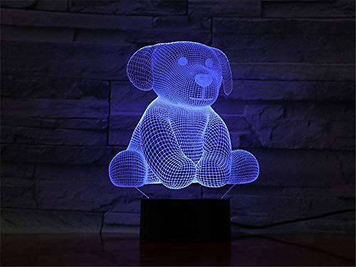 Luz nocturna 3D para niños 3D ilusión lámpara oso muñeca 16 colores que cambian de acrílico LED luz nocturna para niños y niñas como en cumpleaños o vacaciones