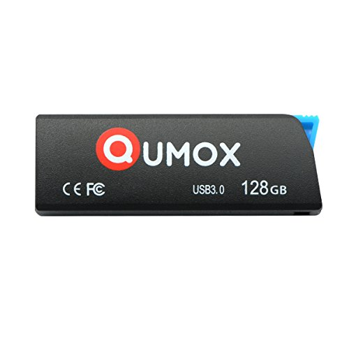 QUMOX 128GB 128 GB Pen Drive USB 3.0 Flash Memory Stick Nero