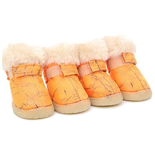 HDDFG Chaussures pour Chien de Compagnie Bottes pour Chien Chaussettes pour Chien Bottes de Neige pour Chien Chaussures Hiver Chaud antidérapant Convient aux Chiens de Petite et Moyenne Taille Chiots