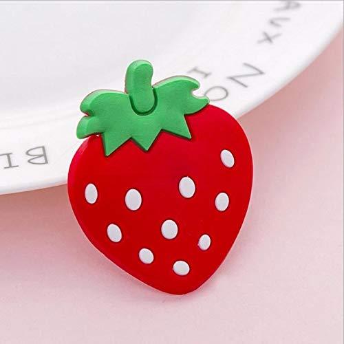 weichuang Imán magnético para nevera, 1 unidad, diseño de frutas coloridas de dibujos animados de silicona, accesorios de nevera, decoración del hogar, imán de nevera (color: 01)