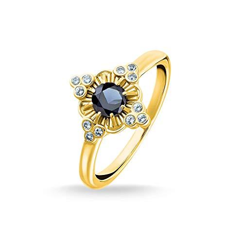 THOMAS SABO Damen Ring Royalty Gold 925er Sterlingsilber; 750er Gelbgold Vergoldung TR2221-960-7