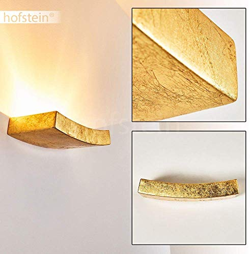 Lampada da parete Bochum in ceramica di colore oro - Applique murale dorata per interni semicircolare - Spot muro con attacco R7S 78mm max. 75 Watt
