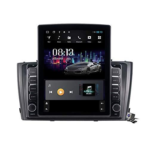 Gokiu Pantalla Vertical de 9,7 Pulgadas Android 9.1 Coche Multimedia Player para Toyota T27 Avensis 2009-2015, Soporte GPS Navegador Radio De Coche USB BT Mandos de Volante,TS150