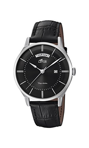 Lotus Watches Reloj Análogo clásico para Hombre de Cuarzo con Correa en Cuero 18420/3
