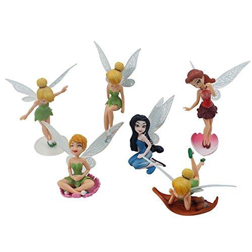 YIXUAN Feen-Figuren, Verschiedene Miniatur-Figürchen, Blumen-Feen, Garten, Blumentopf, Puppenhaus-Dekoration Six-piece Suit