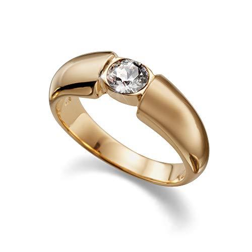 Oliver Weber Anello Solitaire oro cristallo 41001, size:l