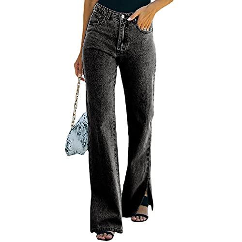 WXMSJN OtoñO Nuevo Lavado Split Net Celebrity Estrictamente Seleccionado Cintura Temperamento Pantalones De Mezclilla Pantalones Casuales
