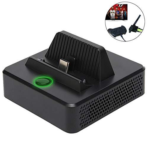 KINVOCA Switch Dock, tragbarer Switch Ladeständer, kompakter Switch auf HDMI Adapter, Switch Docking Station mit extra USB 3.0 Anschluss, Ersatz-Ladestation für Nintendo Switch mit USB C Power Input