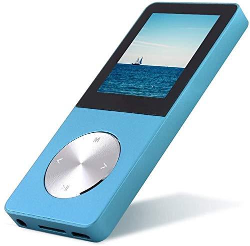 Reproductor de música MP3/MP4 Ancool (R) 8 GB portátil , e-book, visor de fotos, calendario, alarma, protector de pantalla, altavoz externo, color azul