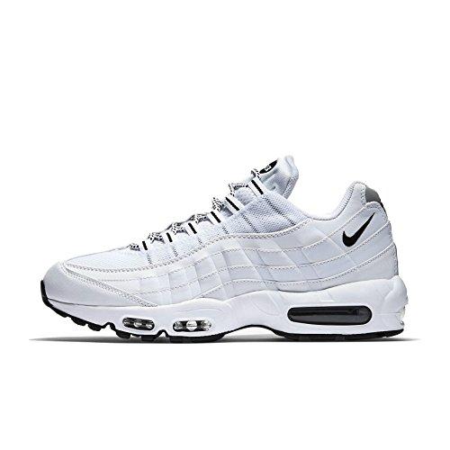 Nike Air MAX '95, Zapatillas de Running Hombre, Blanco/Negro (White/Black-Black), 41 EU