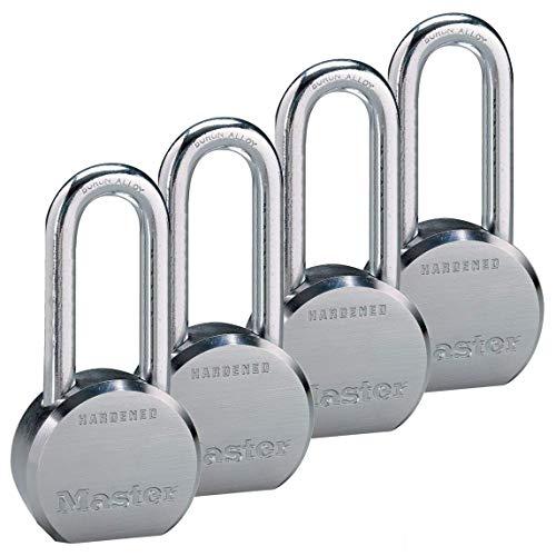 Master Lock - (4) High Security Pro Series Keyed Alike Padlocks 6230NKALH-4 w/ BumpStop Technology